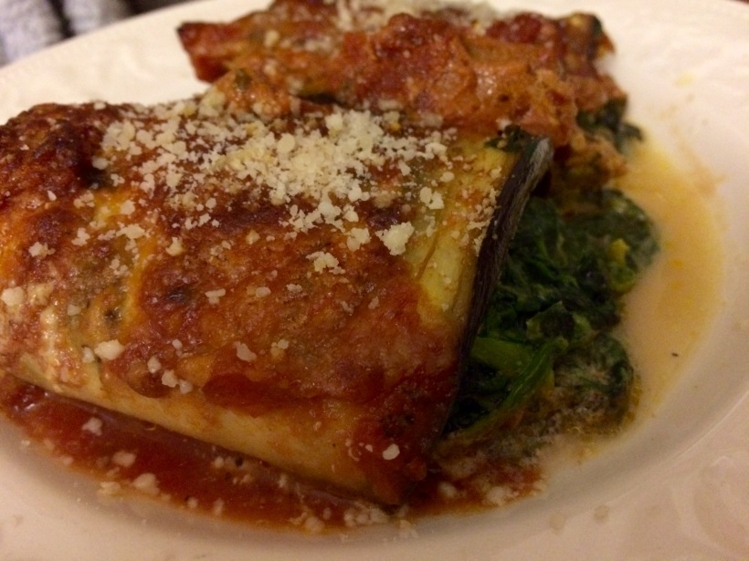 low fodmap vegetarian spinach and ricotta canelloni